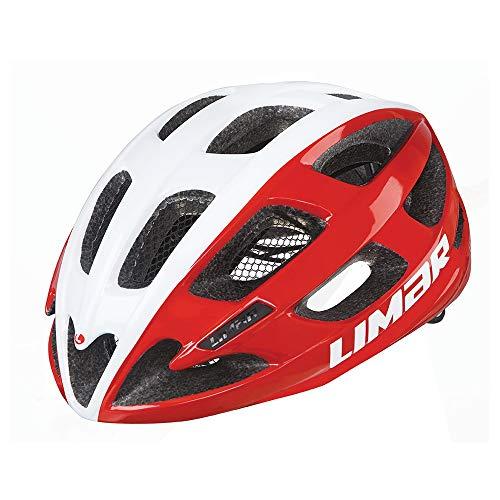 Limar Fahrradhelm Ultralight Lux Gr.M 50-57cm Weiss rot ca. 200g Fahrrad