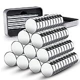 100 Mini imanes de Neodimio 8x3mm caja GRATIS I mini imanes extra fuertes para pizarra, placa magnética, pared magnética, refrigerador, tablero de memoria, placa magnética de vidrio o panel