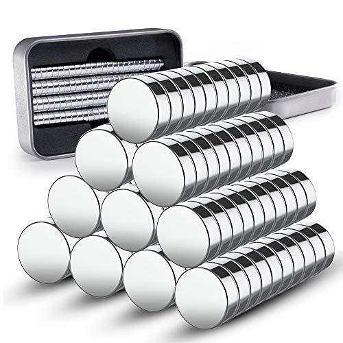 100 Mini Neodym Magnete 8 x 3 mm GRATIS Box | extra starke Mini Magnete für Whiteboard - Magnettafel - Pinnwand - Kühlschrank - Magnetwand - Memoboard - Glasmagnettafel - Magnetboard oder Tafel