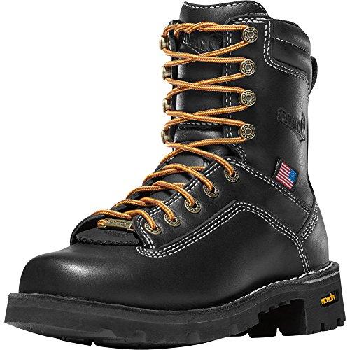 "Danner Women's Quarry USA 7"" Alloy Toe Boot,Black Leather,US 11 M"