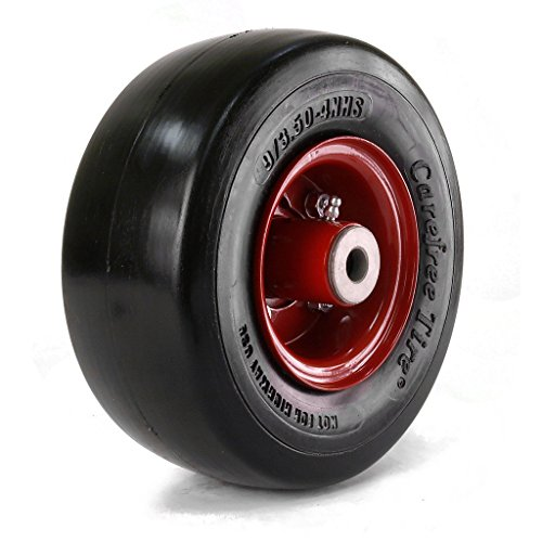 """Martin Wheel 9x3.50-4 Carefree Solid Tire & Wheel assembly 5/8"""" Roller Bearing Eliminator"""
