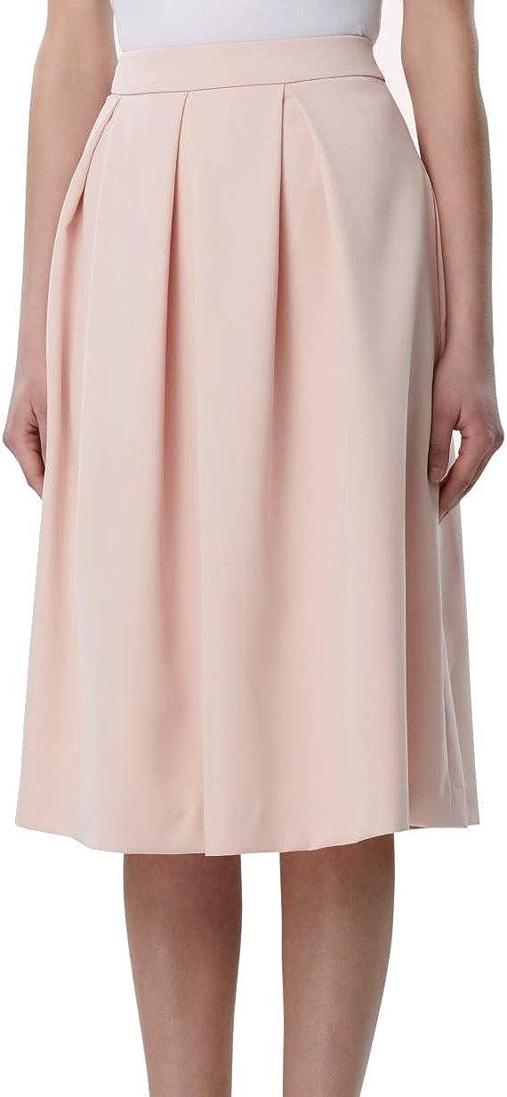 TAHARI Womens Pink Midi Pleated Skirt Size 2P