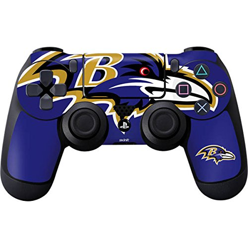 Skinit Decal Gaming Skin for PS4 Controller - Officially Licensed NFL Baltimore Ravens Large Logo Design