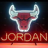 QUEEN SENSE 20'x16' Chicago Bull Jordan Neon Sign (VariousSizes) Beer Bar Pub Man Cave Handmade Glass Lamp Light DB476