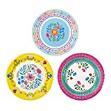 Talking Tables Assiettes en Papier Jetables de Theme Boheme Chic a Motif Floral Parfait Pour Anniversaires et Fetes