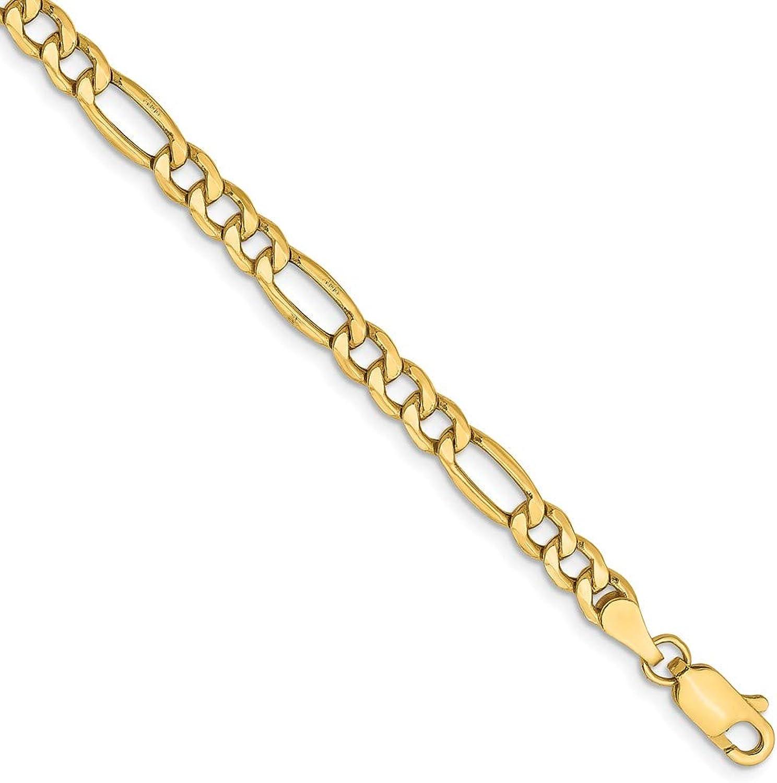 Beautiful Yellow gold 14K Yellowgold 14k 4.75mm SemiSolid Figaro Chain