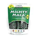 Mighty Maca Plus - 15 Travel Packs Delicious, All-Natural, Organic Maca Superfoods Greens Drink, Allergen & Gluten Free, Vegan, Powder … (15)