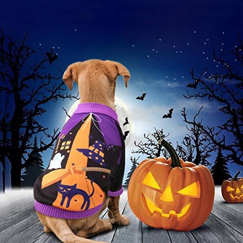 Idepet Haustierkostüm für Halloween, Kürbis-Motiv, Fleece, Jacke, Pullover, für Katzen, kleine Hunde, Chihuahuas, Verkleidung, Party, Halloween, Weihnachten, Ostern, Festival, Hundekleidung