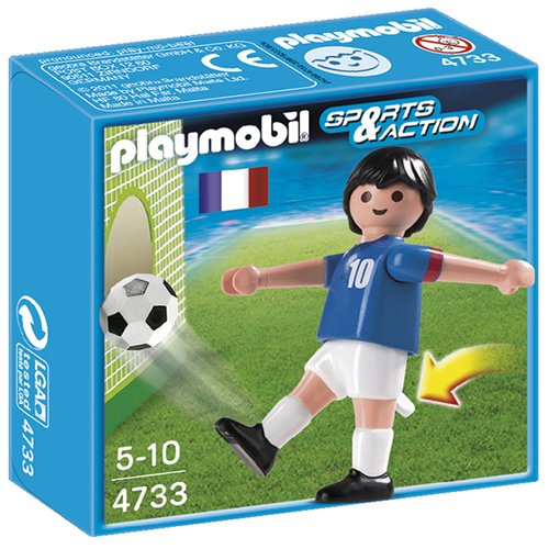 Playmobil Fútbol - Fútbol: Jugador Francia (4733)
