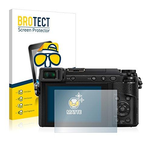 brotect Protection Ecran Anti-Reflet Compatible avec Panasonic Lumix DMC-GX80 (2 Pièces) - Film Mat