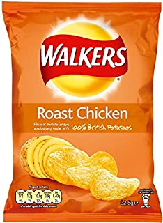 Walkers Roast Chicken Flavour Crisps 4 x 32g Bags