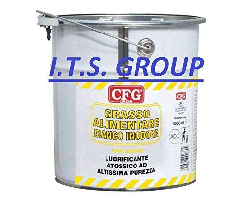 Grasa Alimentaria 5000ml blanco inodora no tóxico lubrifica protege y meridianos cafeteras para lavorazione hermético