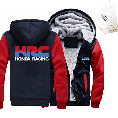 GUCCPAI Verdicken Plus Samt Kapuzenpullover H.O.n-Da HRC Drucken Strickjacke Warm Jacke Herren & Damen Beiläufig Sweatshirt Klassisch/B/L