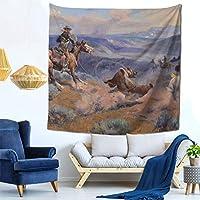 ループとスイフト馬はリードよりも優れています タペストリー 多機能壁掛け おしゃれ 室内装飾 モダンなアート 壁掛け壁画 インテリアの装飾 部屋 居間 玄関 浴室 お店 飾り 150X150CM