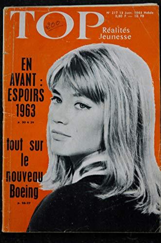 TOP Réalités Jeunesse 217 - 1963 01 Françoise Hardy - Les Espoirs 1963 - Le Boeing 727