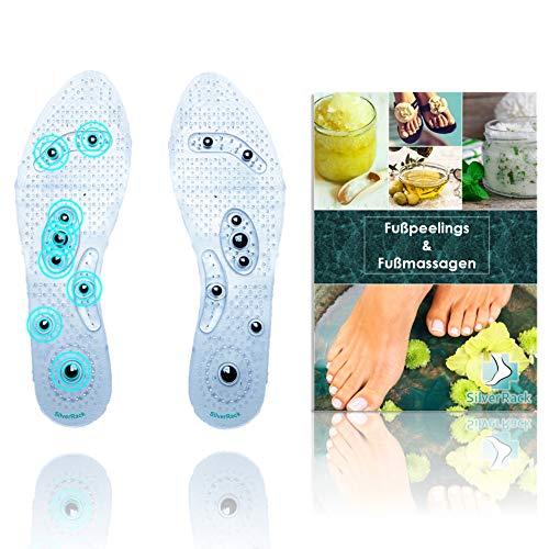 SilverRack magnetische Einlegesohle | orthopädische und magnetische Schuheinlagen Einlegesohlen für Akupressur und Massage | Einlegesohlen magnetisch | Frauen Herren Größe 39-44