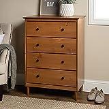 Walker Edison Tall Wood Dresser Bedroom Storage Drawer Organizer...