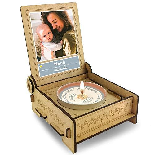 FANS & Friends Candle IN The Box geschenkdoos voor peetonkel met boodschap & kaars | Gepersonaliseerd met afbeelding en naam | de beste patentonkel ter wereld