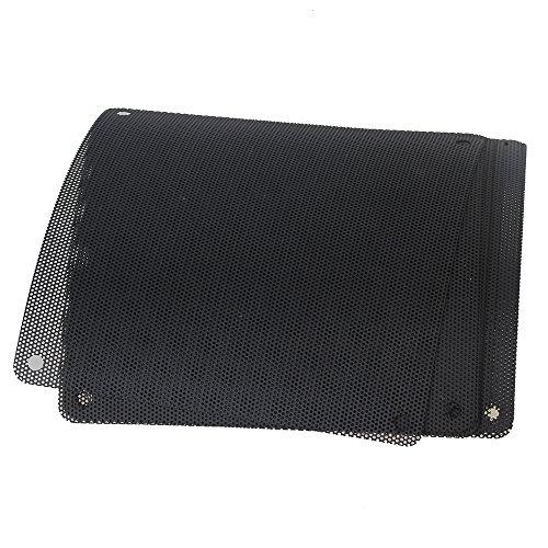 BQLZR 120mm PVC Black PC Cooler Fan Dust Filter Dustproof Case Cover Computer Mesh Pack of 10