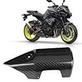 Motorcycle Exhaust Heat Shield Cover Carbon Fiber Motorcycle Heat Shield Exhaust Muffler Pipe Protector Cover for Yamaha MT-10 FZ-10 16-18