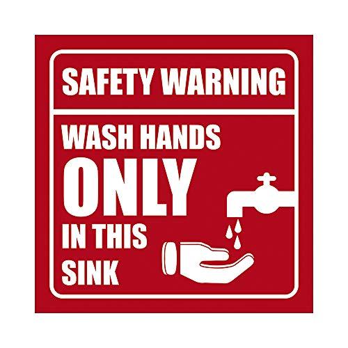 Hioilyday Wash Hands In This Fregadero de aluminio Estaño Public Places WC inodoro cuarto de baño casa puerta