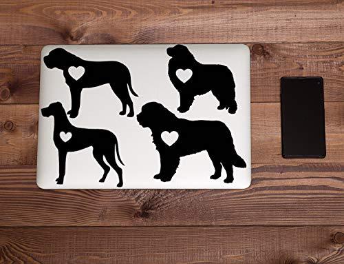Diuangfoong Pegatina de vinilo de raza de perro gigante para coche, portátil, gran danés, gran pirineo, San Bernardo, mastín 758# 10 pulgadas