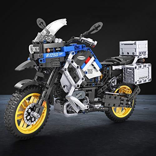 OVERWELL Technik Bausteine Motorcycle Model, 948pcs 1:6 Straßenmotorrad für BMW R 1200 GS Adventure Motorbike, Kompatibel mit Lego Technik