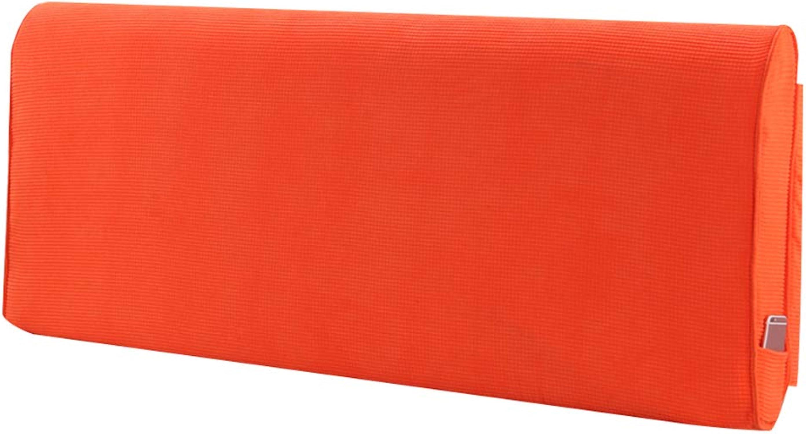 JYW-kaodian Tête De Lit Coussin Wedge PilFaible Housses De Coussins Oreiller Double étui Souple Oreiller de canapé, 10 Couleurs, 4 Tailles,Orange,120  10  60cm
