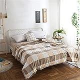 Manta de bambú de verano para dormir caliente, ligera y transpirable, para verano, grande, tamaño doble, tamaño completo, fina y fresca manta de bambú (150 x 200 cm), color caqui