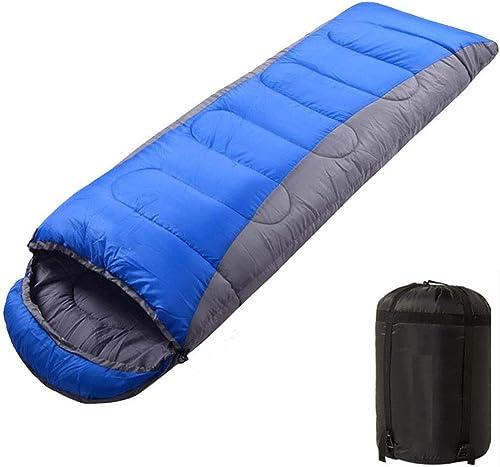 Iashion Sac De Couchage en Plein Air 2 Saisons Enveloppe pour Adultes Matelas De Couchage 190T Polyester Pongé Warm Bag