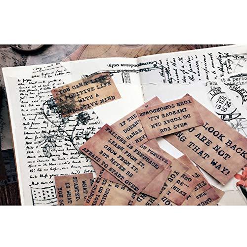 17 Stück Vintage Memo Letters Pergament Papier Aufkleber Retro Motto Aufkleber zu DIY Ablum Tagebuch Bücher Bullet Journal Aufkleber Briefpapier