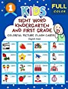 Sight Word Kindergarten and First Grade Colorful Picture Flash Cards English Hindi: Learning to read basic vocabulary card games. Improve reading comprehension with short sentences kids books for kindergarteners