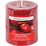 Luminessence Apple Cinnamon Scented Pillar Candle