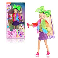 Lights, Camera, Action. The assortment includes TV Host JoJo and Vlogger JoJo. Each sold separately. The JoJo Siwa Fashion Doll stands 10 inches tall. Includes wear-and-share bow accessory. Includes two TV host accessories: Microphone and Bow Radio. ...