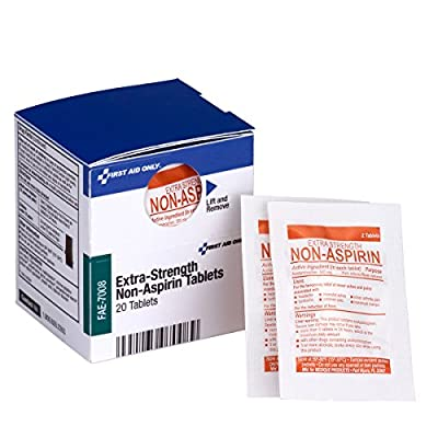 First Aid Only FAE-7008 SmartCompliance Refill Non-Aspirin, 2/Packet, 10 Packets Total by Pac-Kit Acme United