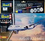Revell 64952 Model Set Airbus A321 Neo originalgetreuer Modellbausatz für Fortgeschrittene