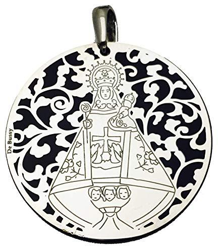 Medalla Virgen de Covadonga en Plata de Ley y Onix