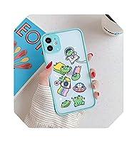 Chnanカートゥーンitiベアスペース電話ケースFor iPhone11 Pro 12 XS MAX 7 SE 20 X XR 68Plus透明ハードカバーマットファンダス-6-For iPhone 8 plus