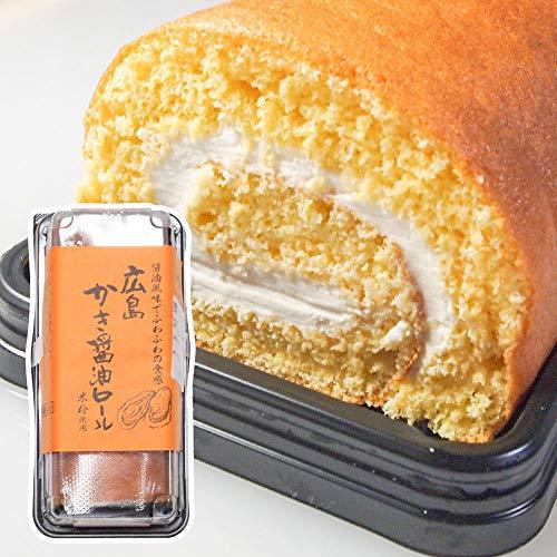 広島かき醤油ロール ハーフ クール便 しょうゆ風味ふわふわ パンフルート ロールケーキ