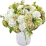XONOR 4 Paquetes de Seda Artificial Hortensia Nupcial Dama de Honor Ramo de Flores para el Banquete de Boda Decoración del Hogar, 10 Cabeza, 36 cm (5)