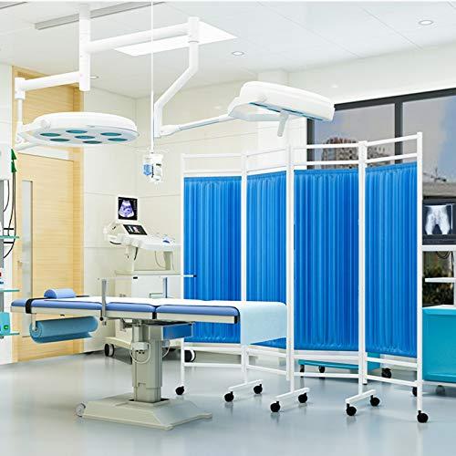 Tenda A Schermo per Privacy Medica, Ospedale Room Furniture 4 Letto Pieghevole Separè Cortina divisorio, for Il Pronto Soccorso, Ward, ICU monitoraggio in Camera (Color : Blue)
