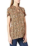 SUPERMOM Top SS Flower Camiseta, Coral Gold-P730, L para Mujer