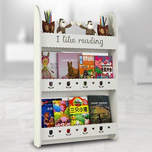 TLMYDD boekenkast voor kinderen, om op te hangen aan de muur, boekenkast, 3 niveaus, spaarboeken, kasten, album, lijst voor tentoonstelling, 95 x 60 x 12 cm