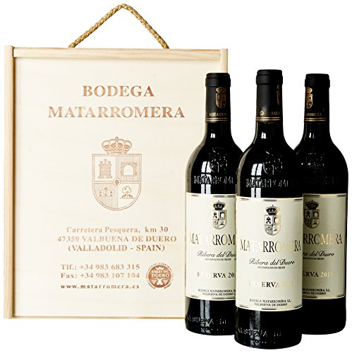 Estuche de Madera de 3 Botellas de Matarromera Reserva - 750 ML