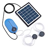 Lewisia Solar Air Pump Kit Battery with Air Hoses and Bubble Stones 3 Working Modes Pond Aerator Bubble Oxygenator 1.5W