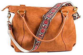 Red Vintage Handbag Strap & Purse Strap Replacement - Jacquard Woven Embroidered Guitar Strap Styled Shoulder & Crossbody Strap Adjustable Bag Strap For Tote And Messenger Bags Great Gift For Womens