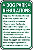 Dog Park Regulations ティンサイン ポスター ン サイン プレート ブリキ看板 ホーム バーために