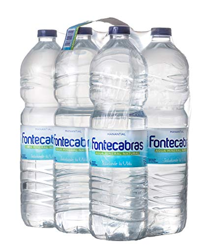 Fontecabras - Agua Mineral Natural Embotellada - Pack Botellas de 6 x 1,5L