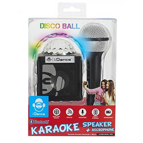 iDance Sing Cube 100 5W Schwarz - Tragbare Lautsprecher (5 W, Verkabelt & Kabellos, Micro-USB, Schwarz, Digital, Tablet/Smartphone)