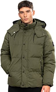 Calvin Klein Faux Down Jacket in Dark Olive